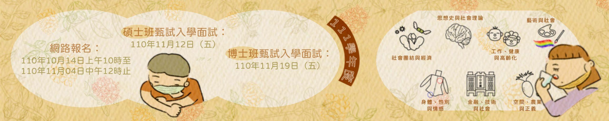 111學年度碩、博士甄選入學banner